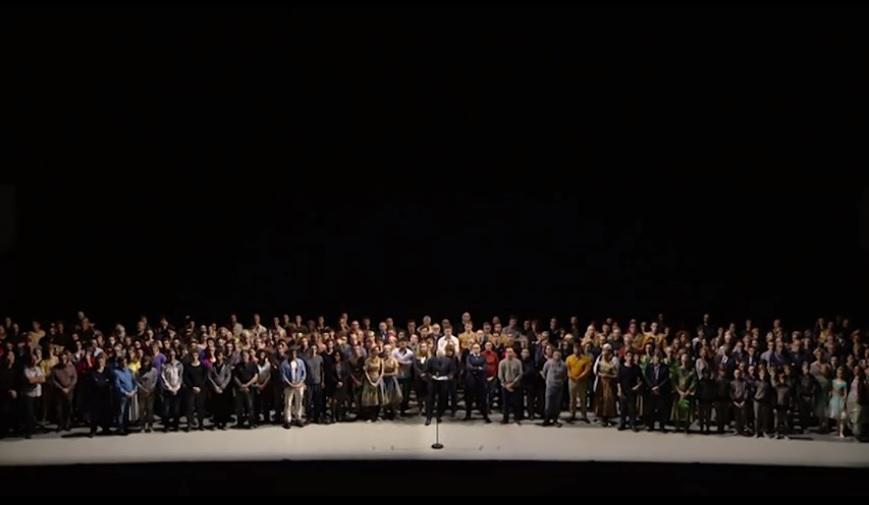 Hommage et discours de Stéphane Lissner et de tout l'ONP