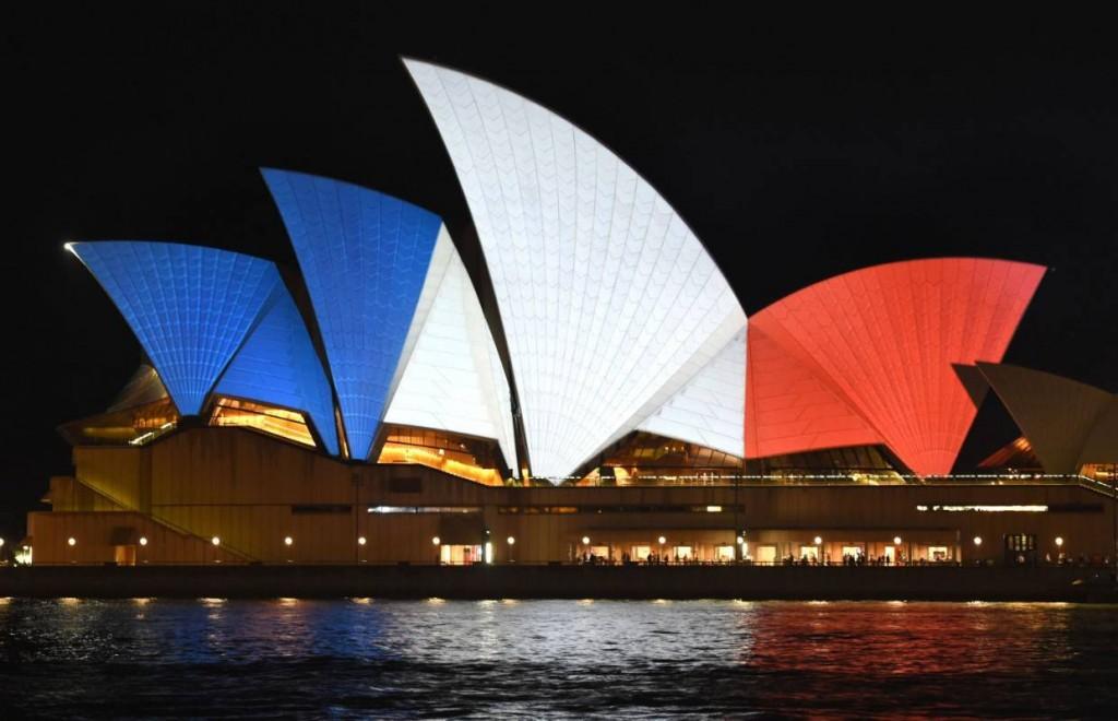 Opera de Sydney solidaire de la France
