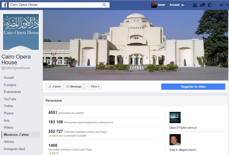Facebook de l'Opera du Caire