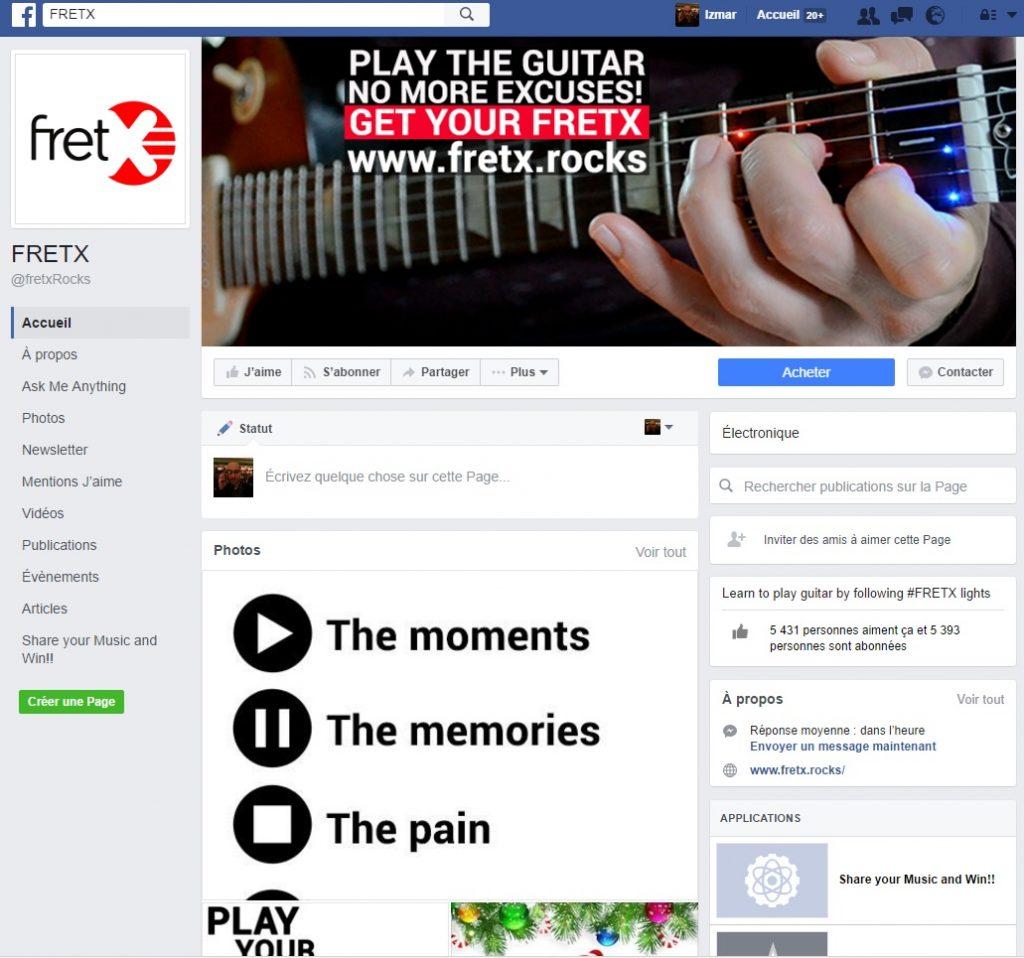 Page facebook de Fretx