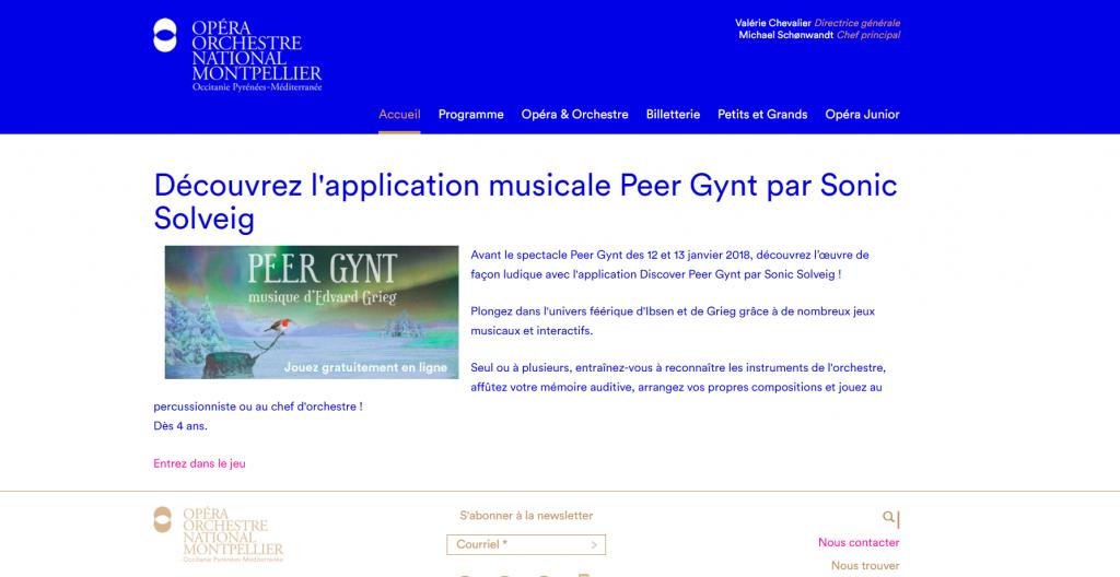 Peer Gynt autre exemple d'experience transmedia à l'Opera de Montpellier
