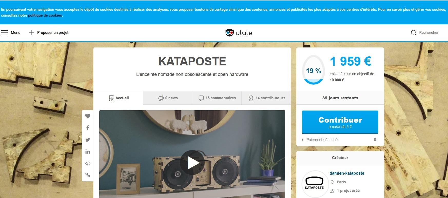 Campagne de financement participatif de Kataposte