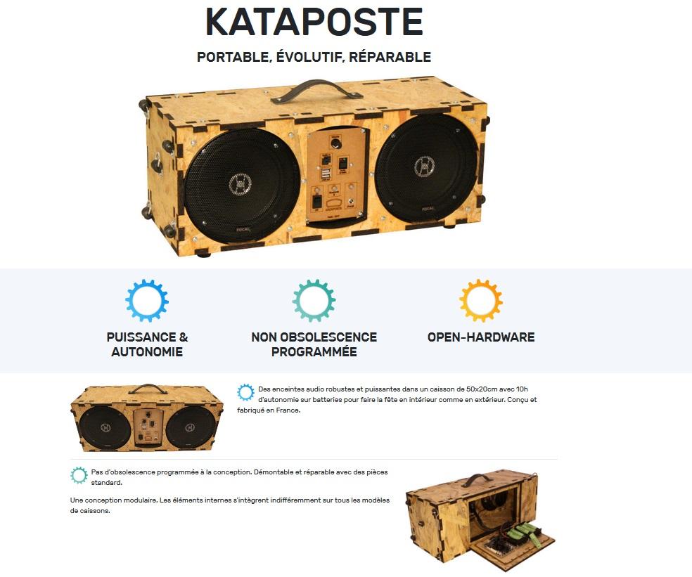 Kataposte : une enceinte différente des autres avec moult atouts !