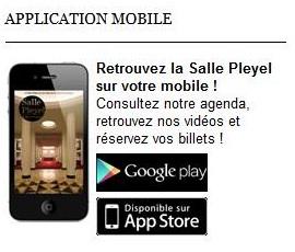 L'application de la salle Pleyel est disponible
