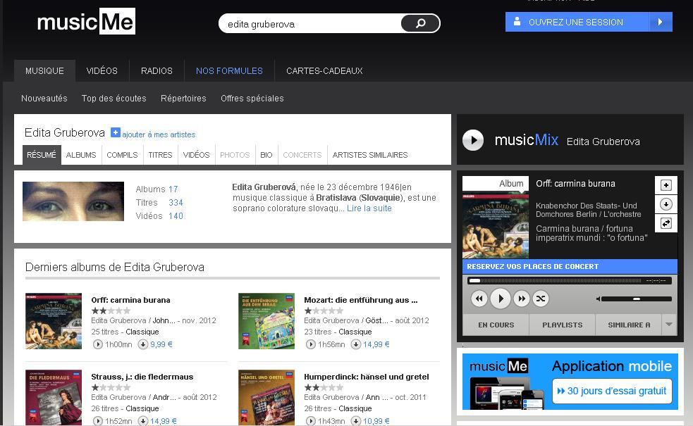 Musicme.com : site de streaming au catalogue de musique classique très riche