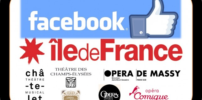 La puissance des operas en ile-de-France sur Facebook